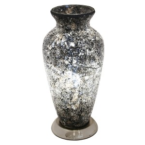 Mosaic Glass Vase Lamp - Black