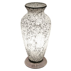 Mosaic Glass Vase Lamp - White