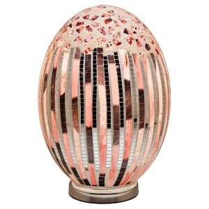 Large Mosaic Glass Egg Lamp - Art Deco