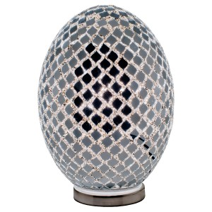 Large Mosaic Glass Egg Lamp - Mirrored