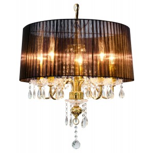 Beaumont Five Light Gold Chandelier