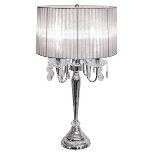 Beaumont Four Light Table Lamp - Silver