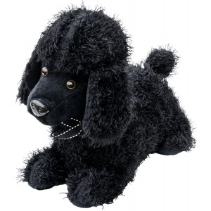 Black Poodle Door Stop Plush