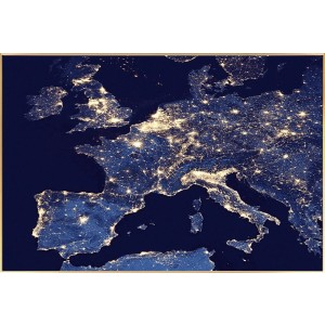Europe City Lights Wall Art