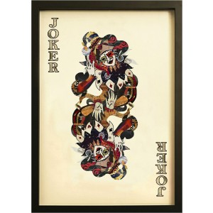 Joker Playing Card Collage Wall Art