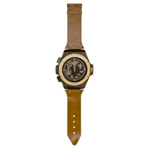 Large Novelty Wrist Watch Wall Clock - Tan