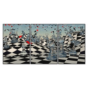 Framed Acrylic Pictures - Chess Sensation (Set of 3)