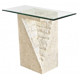 Athens Mactan Stone Pedestal Table