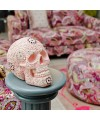 Decorative Model Skull in Pink in our showroom