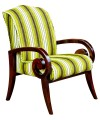 Mira Striped Lounge Chair