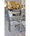 Mc'Sky High Back Metal Dining Chairs in our Showroom