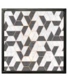 Nest of Three Tables (Set of 3) - Geometric Pattern Top - Top View
