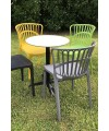 Eden Garden Stacking Chair Set Outside