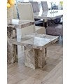 Newcastle Grey Marble Lamp Table in our Showroom