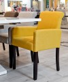 Sadie Linen Tub Chair with Mustard Yellow Fabric in our Showroom