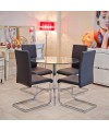 Brescia Sprung Steel Dining Chair in Black