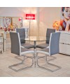 Brescia Sprung Steel Dining Chair in Grey