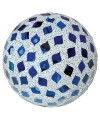 Large Mosaic Polyform Ball - Blue