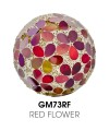 Medium Mosaic Polyform Ball - Red Flower