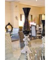 Large Black & Silver Vase in our Showroom