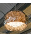 Smoked Glass Shade Chandelier in our Showroom