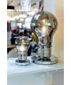 Grey Bulb Shaped Table Lamp as seen in our showroom