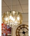 Smoked Shade Chandelier in our Showroom