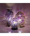 Mosaic Glass Lamps - Purple Together