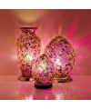 Mosaic Glass Lamps - Purple Tile Together