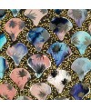 Mosaic Glass Lamps - Blue & Pink Tile - Zoom In Detail