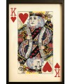 King of Hearts Playing Card Collage Wall Art