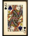 Queen of Spades Playing Card Collage Wall Art
