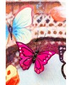 Eiffel Tower & Butterfly Canvas Wall Art - 3D Butterfly Detailed Close Up