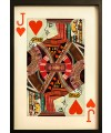 Jack of Hearts Playing Card Collage Wall Art