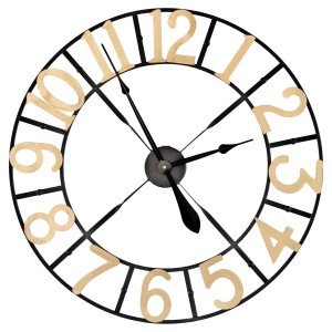 Round Metal Frame Wall Clock