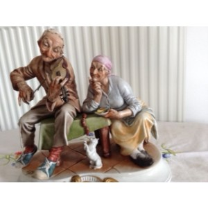Old Peasant Couple by Caprelli
