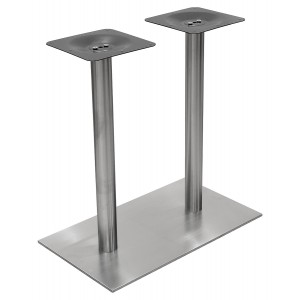 Double Column Rectangular Stainless Steel Table Base