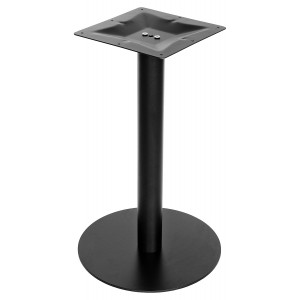 Round Black Matt Table Base