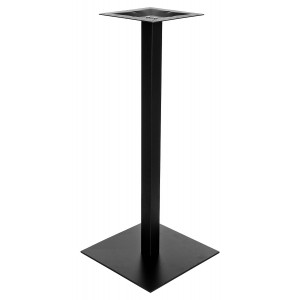Square Black Matt Poseur Table Base