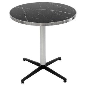 Black Marble Round Table Top