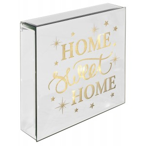 Home Sweet Home - Light Up Mirrored Plaque