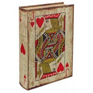 Playing Card - Jack of Hearts Storage Book Box