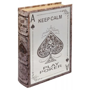 Mirrored Poker Storage Book Box