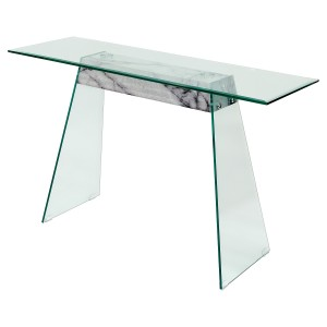 Talladega Glass Console Table