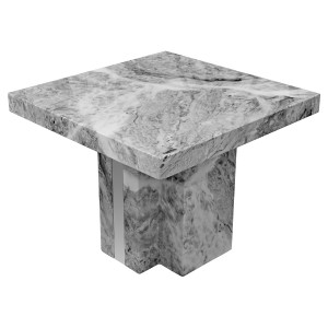 Newcastle Grey Marble Lamp Table