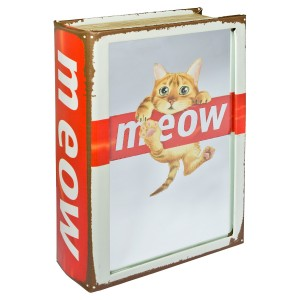 Mirrored Meow Cat Storage Book Box