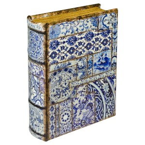 Chinese Tiles Storage Book Box