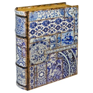 Chinese Tiles Large Storage Book Box