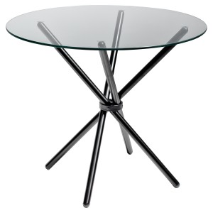 Criss - Cross Glass Dining Table - Black