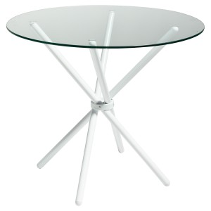 Criss - Cross Glass Dining Table - White